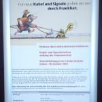 Subway Closure Notice - Frankfurt, Germany