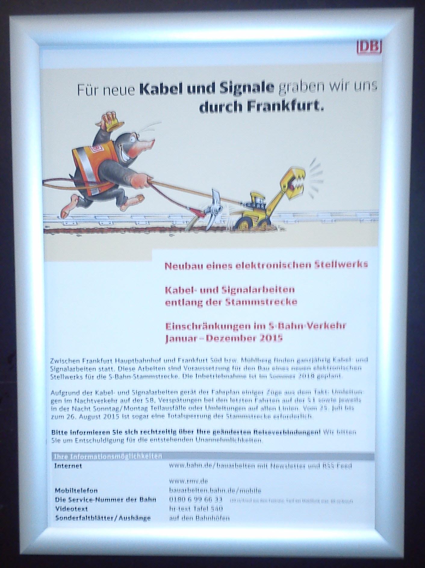 Frankfurt Subway Notice