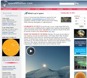 Spaceweather.com - 3-23-15 @ 0500 EDT