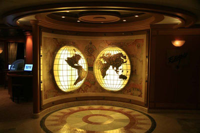 Ruby Princess Conspira-Sea Cruise Map Room