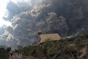Mount Sinabung Volcano Erupton