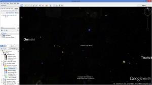 """Star Field """"Winged Object"""""""