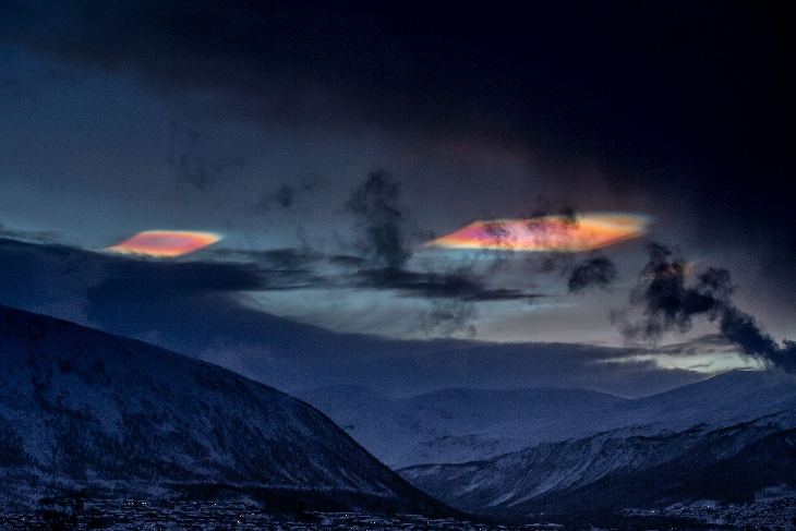 Polar Stratospheric Clouds, Tromso, Norway 12-16-2015