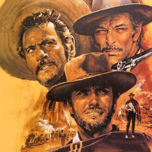 Clint Eastwood, Lee Van Cleef, and Eli Wallac