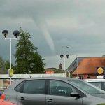 Tornado in Lincolnshire, England
