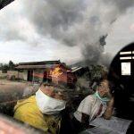 School Kids Near Sinabung