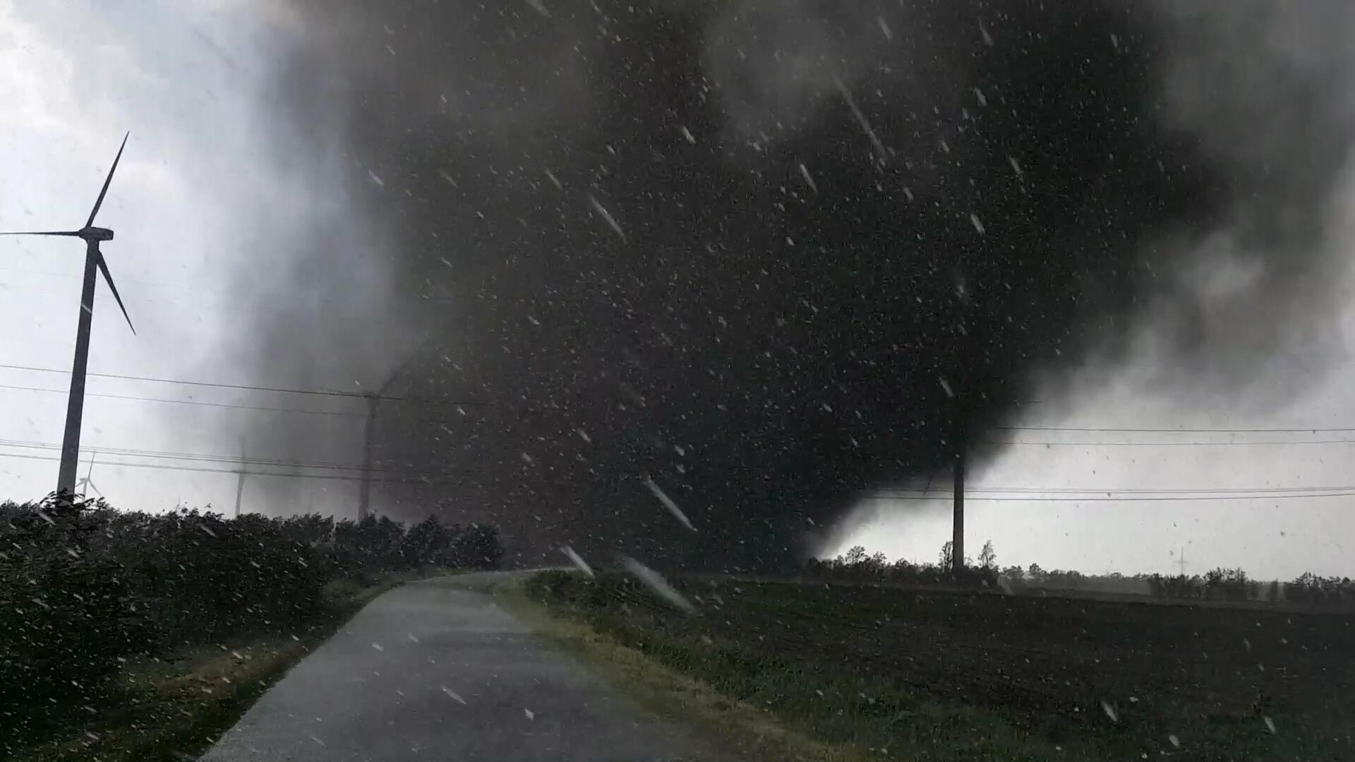 June 5, German Tornadoes Merged to F3