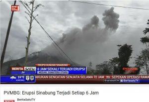7/6/16 Mt. Sinabung Erupting
