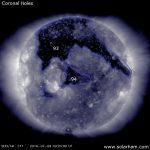 7/9/16 Coronal Holes On Sun