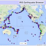 IRIS Earthquake Browser, Last 30 Days