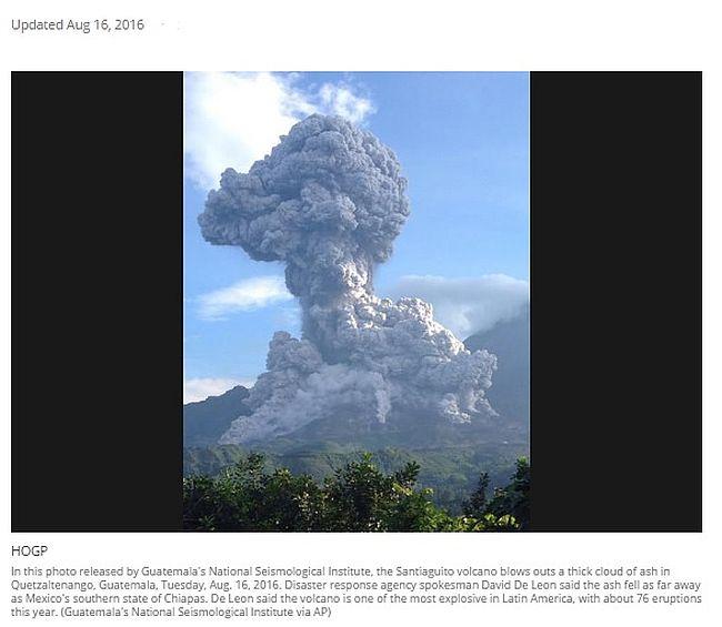08-16-2016 Santiaguito 16,400 ft ash plume