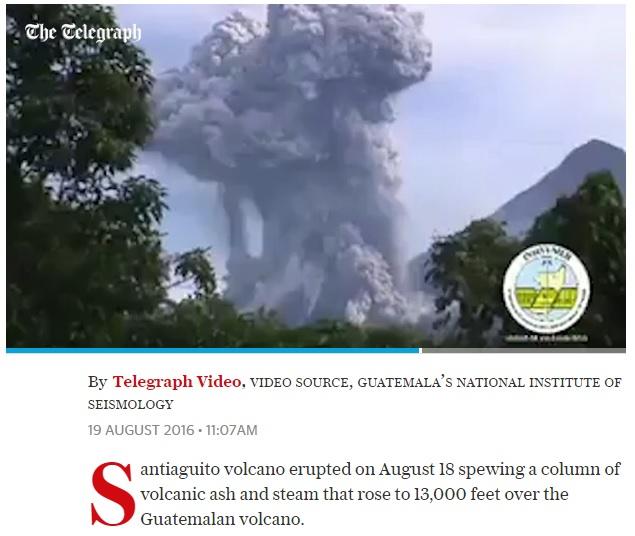 08-18-2016 Santiaguito Erupts Again