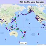 09-14-2016 IRIS Earthquakes, Last 30 Days
