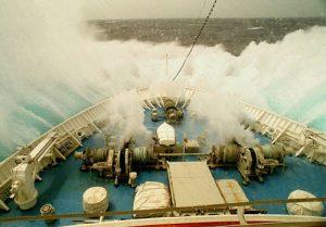 Ship in Hurricane