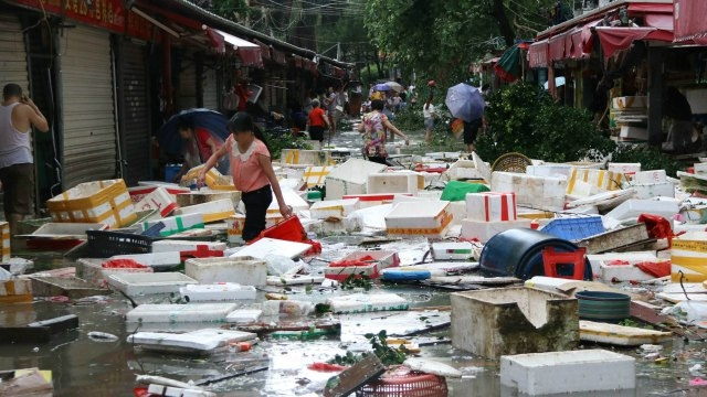 Super Typhoon Meranti, Damage in China