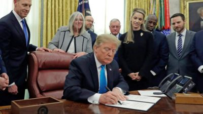 Trump signs Space Policy Directive-4