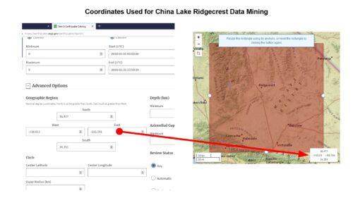 China Lake Data Mining Coordinates