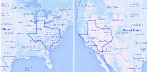 Texas Size Comparison