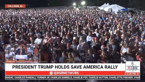 Trump Rally in Alabama 8/21/21 Crowd Shot