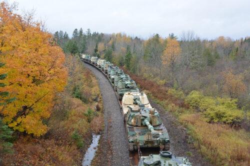 M109 Howitzerns Going to Presque-Isle, Maine