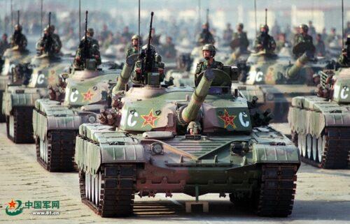 Chinese Tanks on Parade